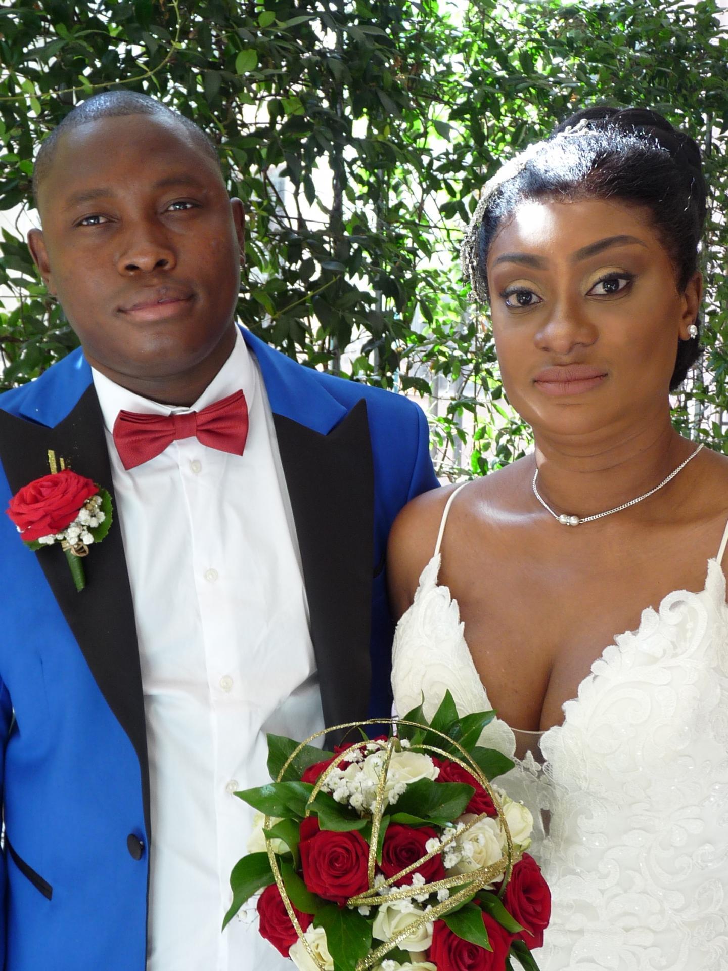 Ibrahima Camara, agent de sécurité, et Marguerite Honapoly, infirmière.