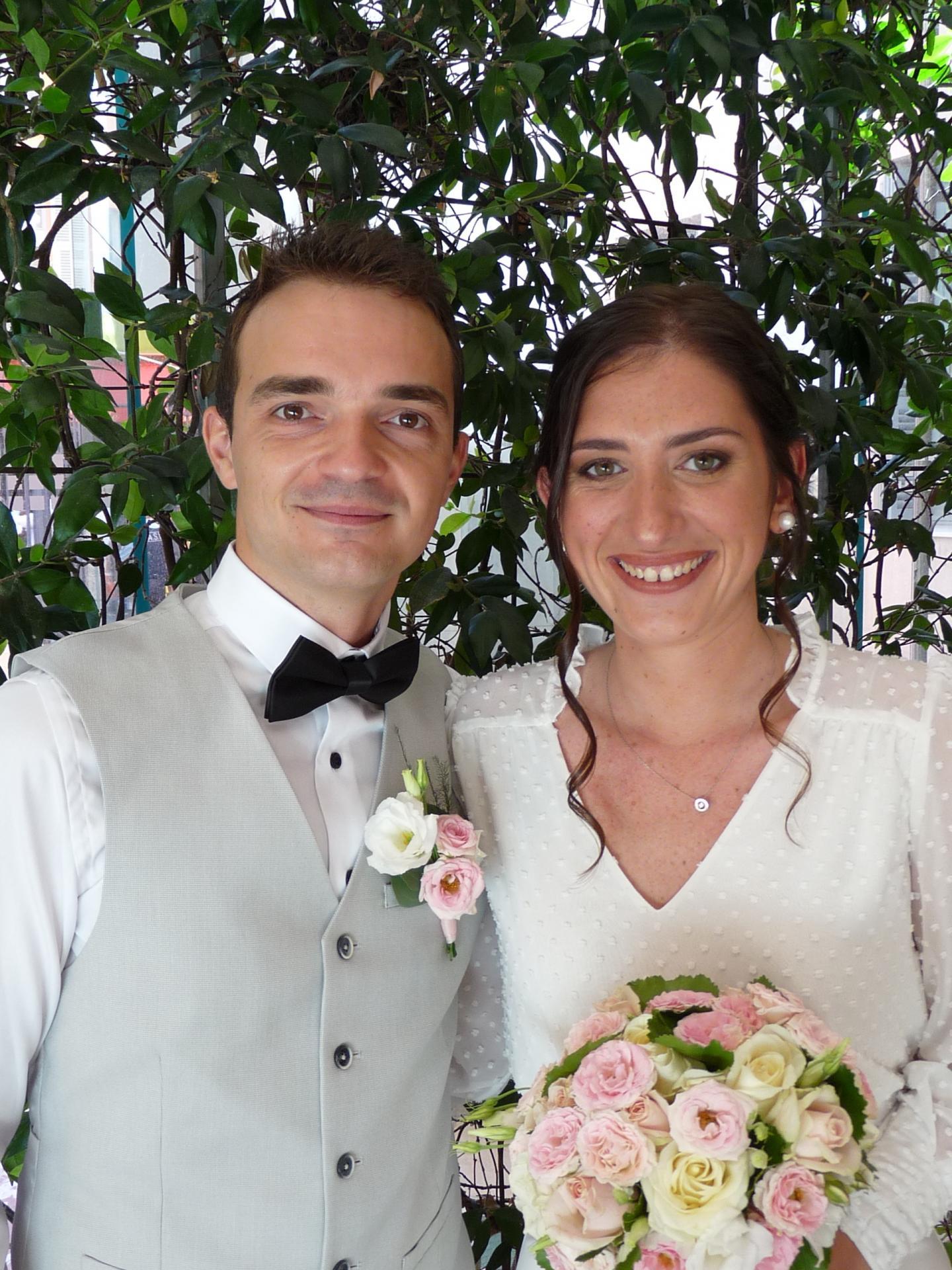 Luca Giordano-Roig, chef d'entreprise, et Lauren Boschard, cadre commerciale.