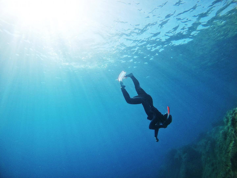 À bout de souffle au fond de la Méditerranée.