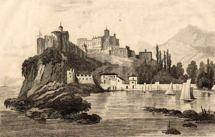 Vue ancienne du Rocher sans la cathédrale.(DR)