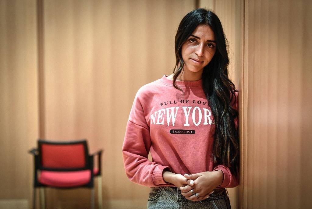 Zarie Sibony, l'une des deux caissières de l'Hyper Cacher de la porte de Vincennes, le 18 septembre 2020 au tribunal de Paris