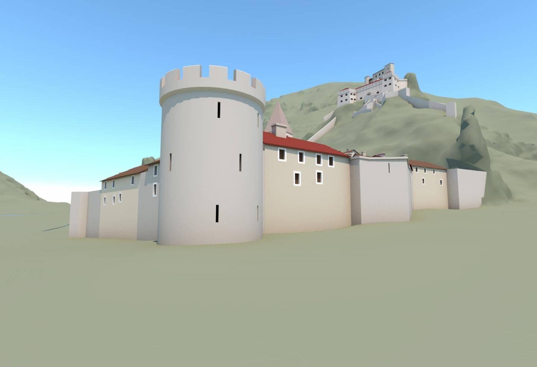 Reconstitution 3D château de Guillaumes