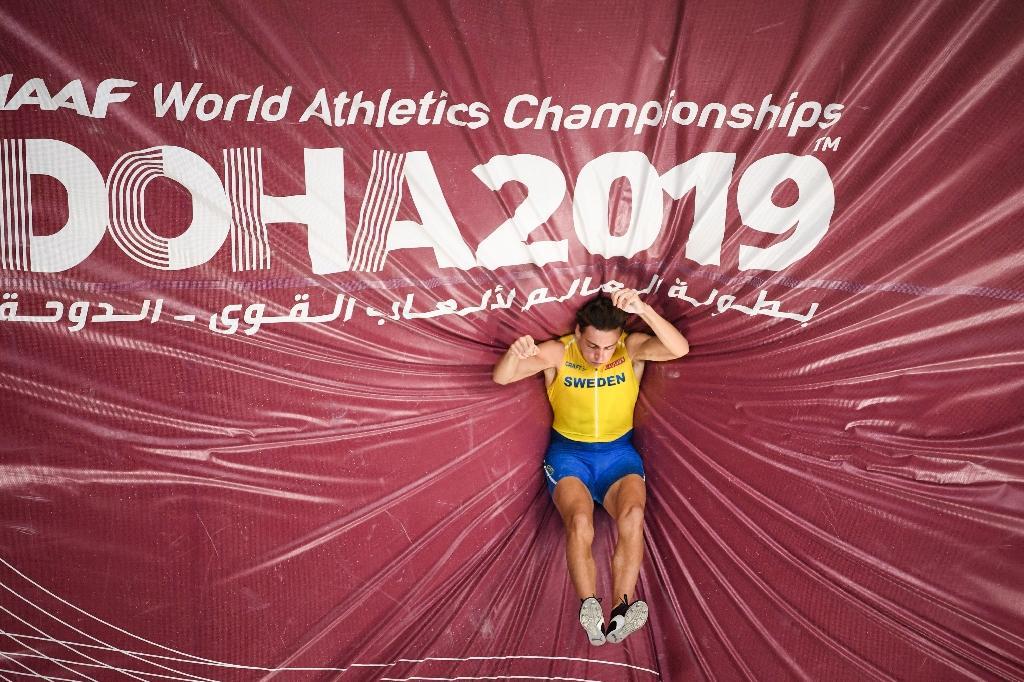 Armand Duplantis sacré à la perche aux Mondiaux de Doha, le 28 septembre 2019