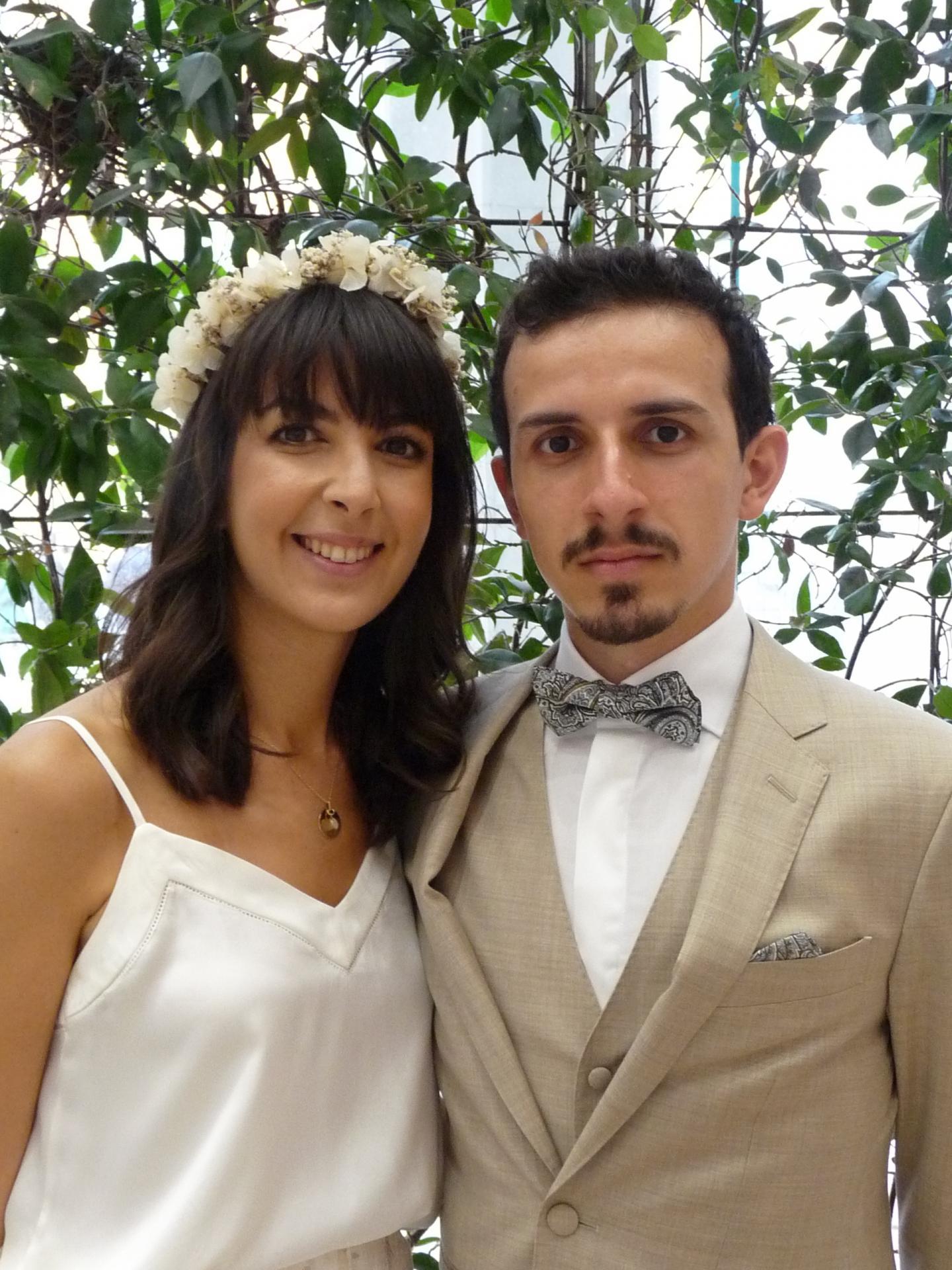 Marie Tchakmakjian, sage femme, et Romain Guaresi, auditeur financier.