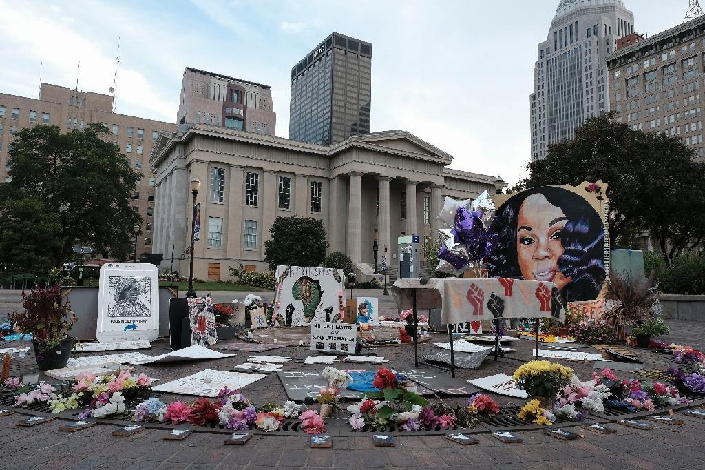 Un memorial en l'honneur de Breonna Taylor, le 23 septembre 2020 à Louisville, dans le Kentucky