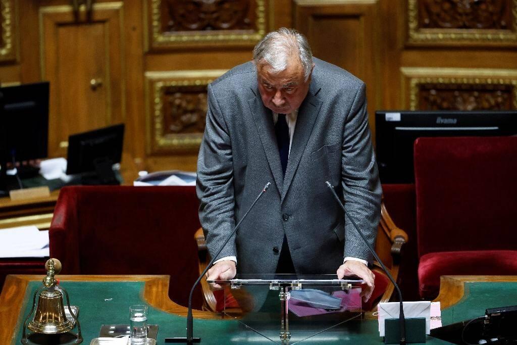 Le président du Sénat Gérard Larcher remercie les sénateurs pour sa réélection, le 1er octobre 2020