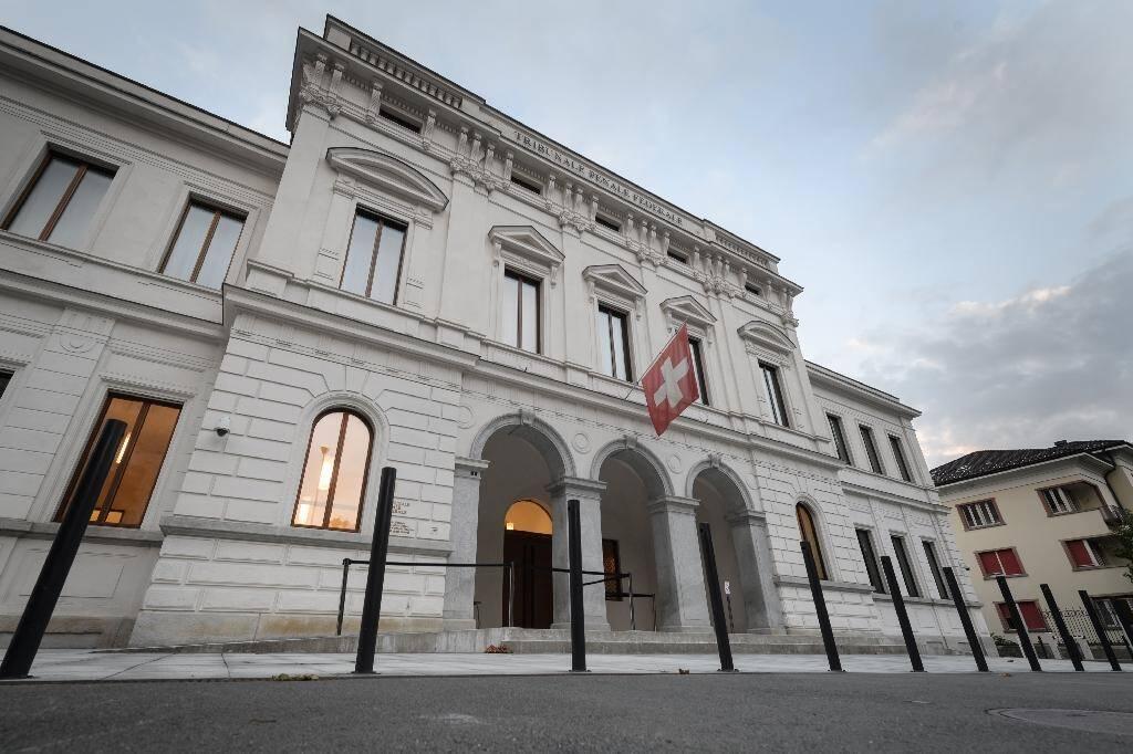 Le Tribunal pénal fédéral de Bellizsone le 14 septembre 2020 à Bellinzone au sud de la Suisse