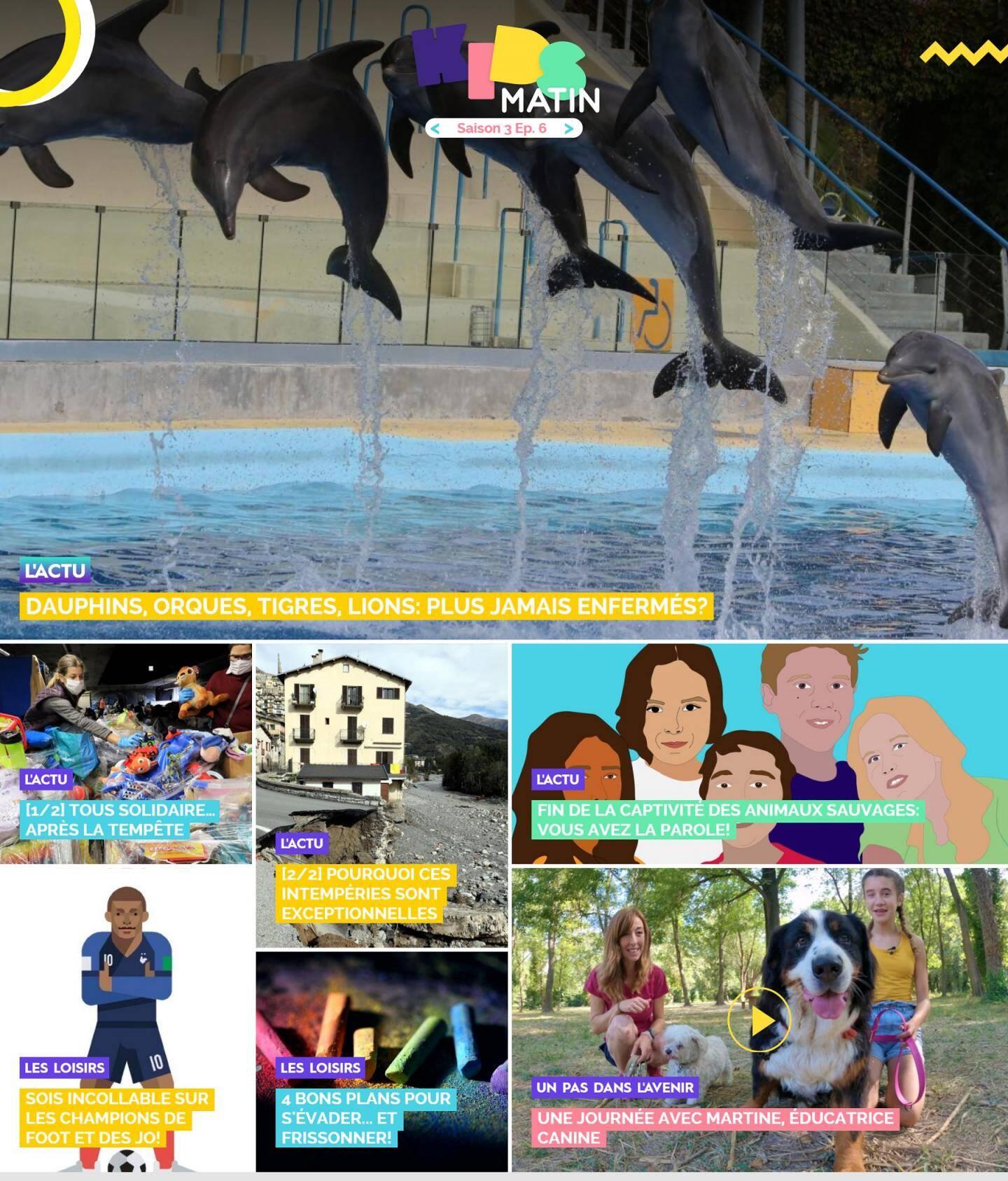 La page d'accueil de Kidsmatin.com ce mercredi 7 octobre 2020.
