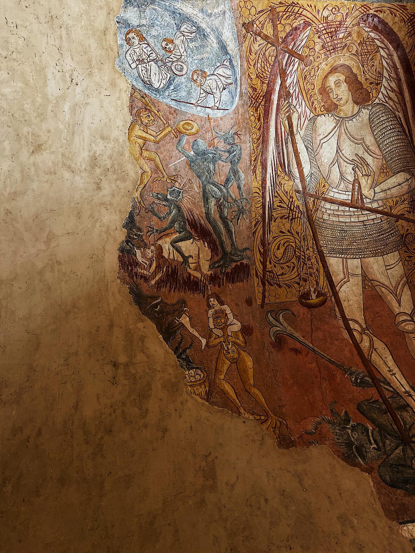 Fresque de la Chapelle Benva à Lorgues.