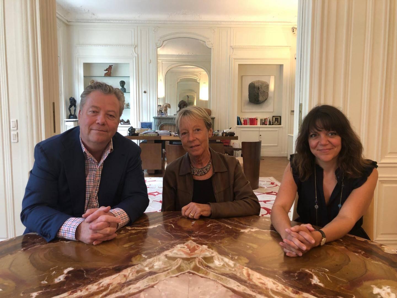 Nadine Turquin (au centre) qui avait épousé Jean-Louis Turquin en 2000 entourée de ses conseils Me Olivier Morice et Me Celia Chauffray.