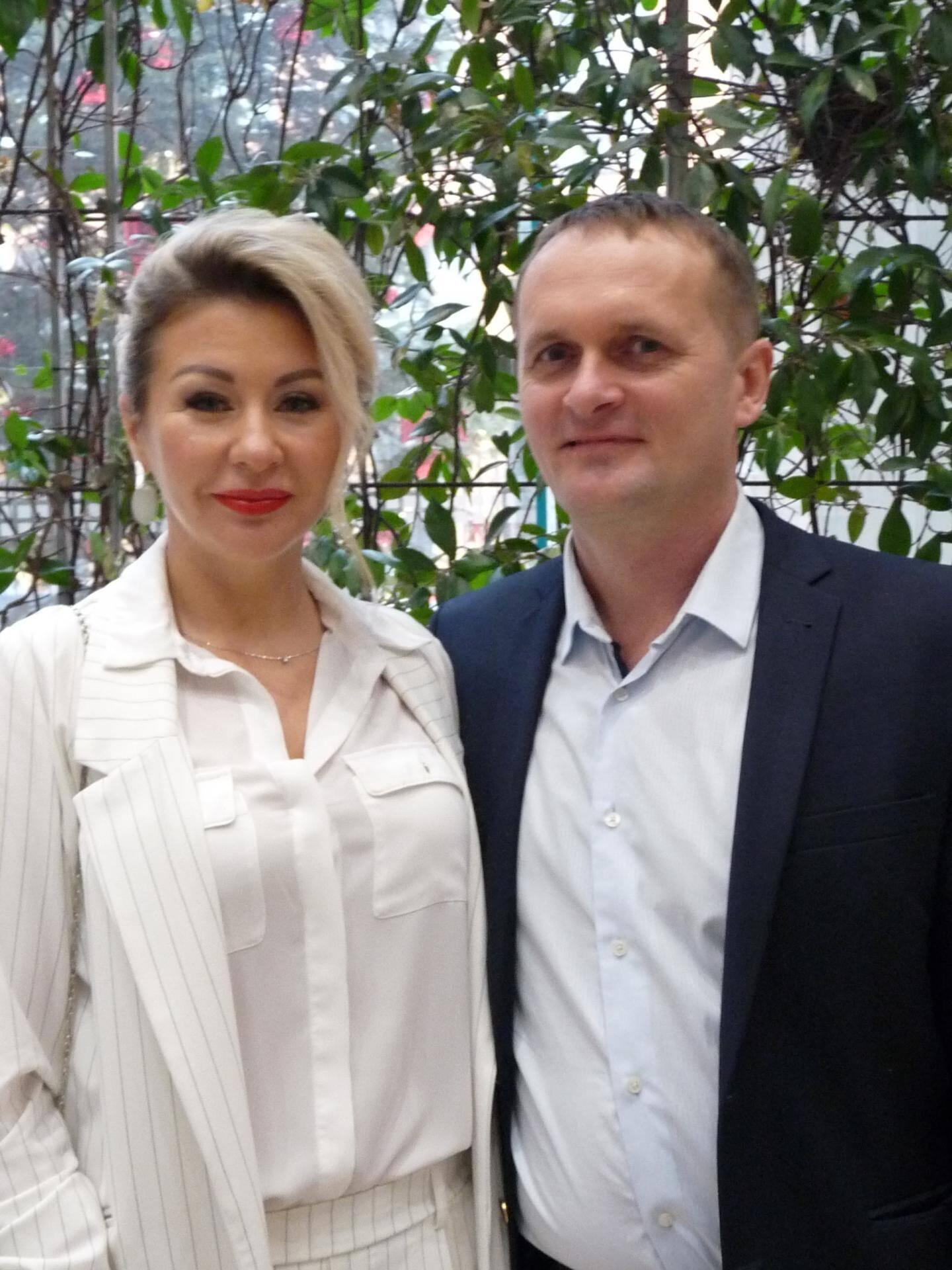 Andrei Pascaluta et Tatiana Kabanovskaia, chefs d'entreprise.