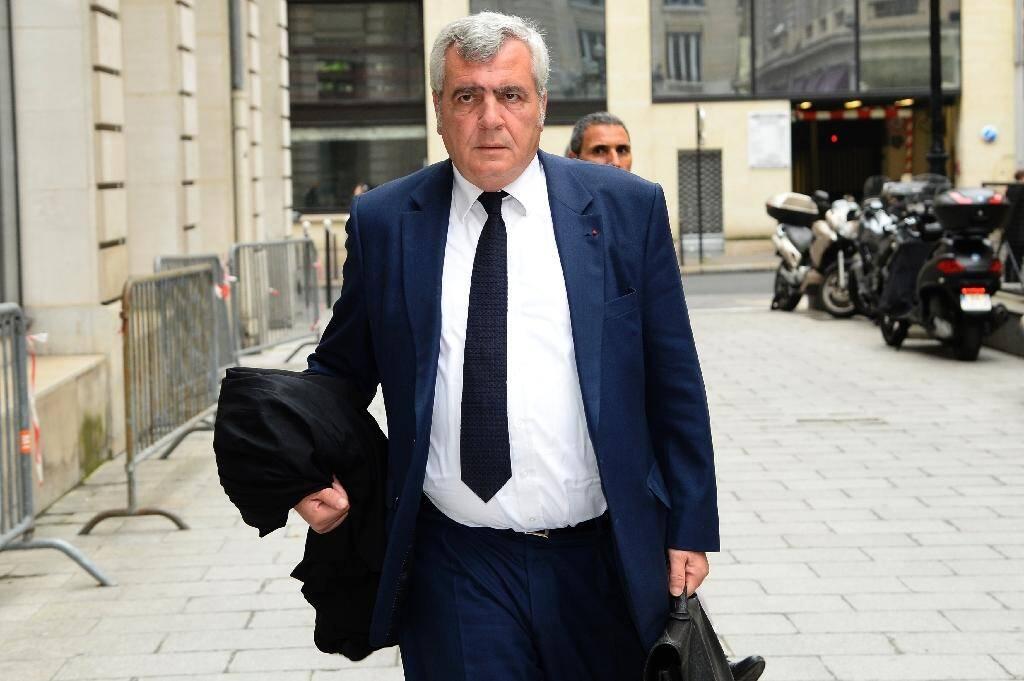 Photo prise le 6 juin 2016. Thierry Herzog, avocat de l?ancien président  Nicolas Sarkozy, arrive au Pôle financier (section financière du tribunal de grande instance de Paris)