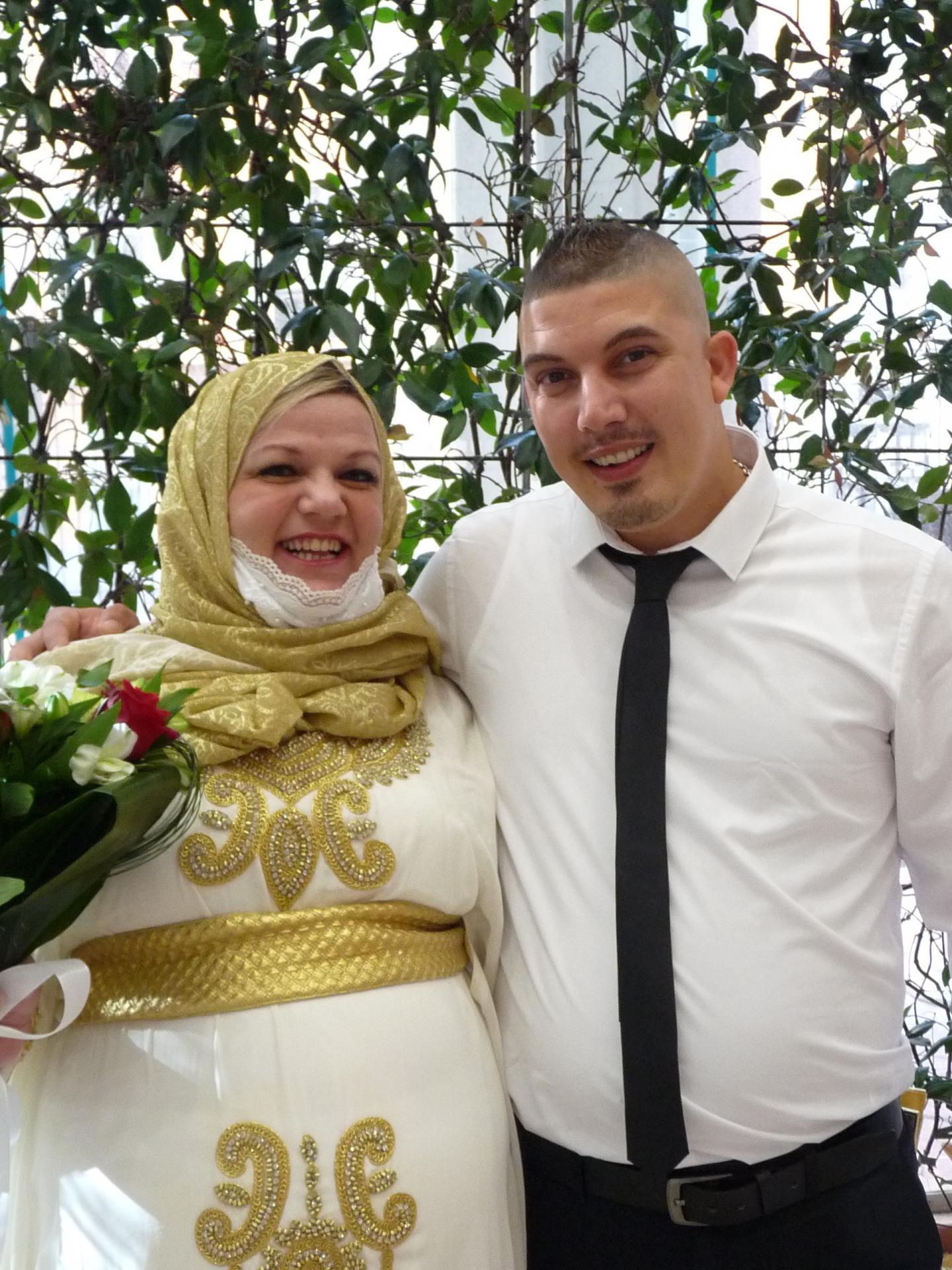 Maryvonne Achour, fonctionnaire et Helmi Jerbi, peintre en bâtiment.