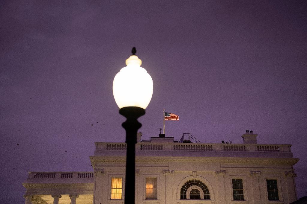 La Maison Blanche où le président Trump continue de contester les résultats de l'élection, le 12 novembre 2020 au crépuscule