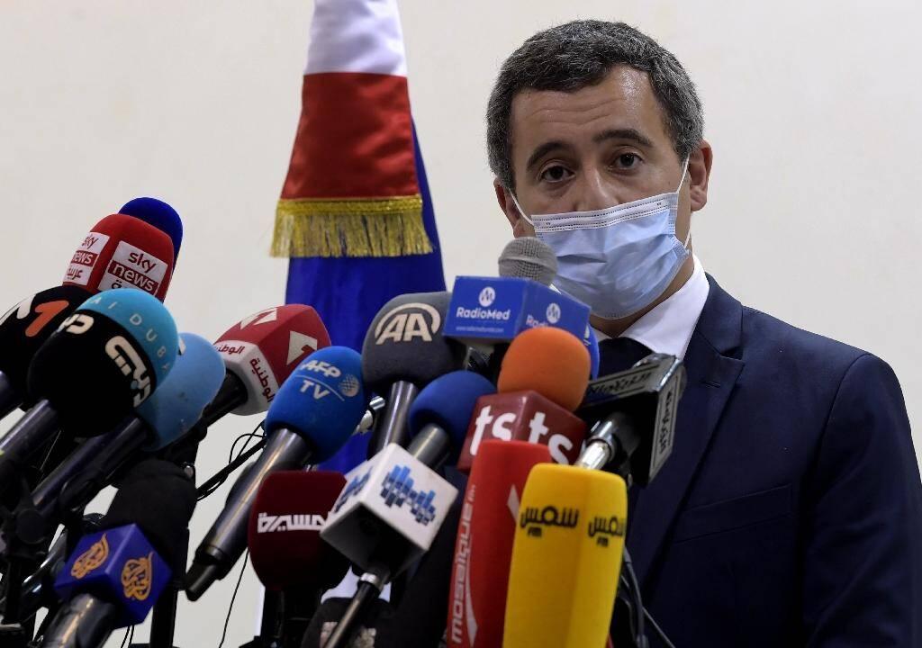 Gérald Darmanin le 6 novembre 2020 à Tunis, où il a présenté aux autorités une liste de personnes à expulser de France, notamment vers la Tunisie
