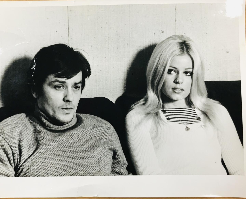 Helen avec Alain Delon.