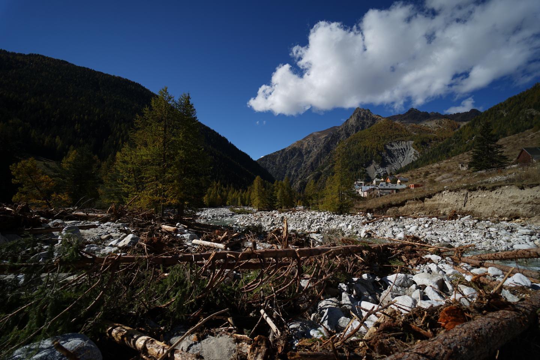 Bien qu'il n'y ait pas eu de maison sinistrée, le vallon de Mollières a été touché, le cours d'eau dévié.