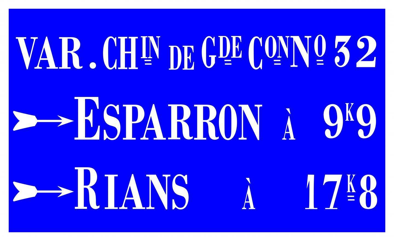 La reproduction de la plaque implantée à Varages avec les couleurs originales.
