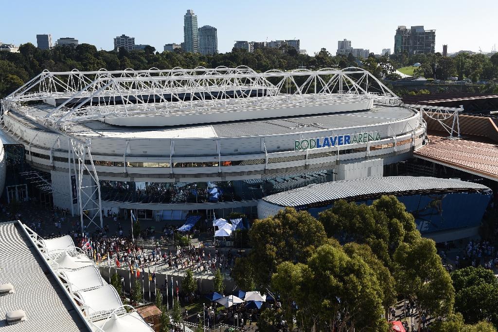 Vue générale du parc de l'Open d'Australie à Melbourne, le 19 janvier 2019