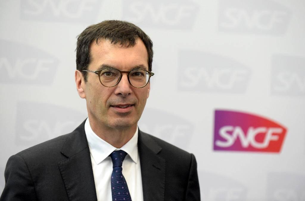 Le PDG de la SNCF, Jean-Pierre Farandou, le 28 février 2020 à Paris