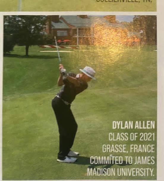 """Il est tombé dans le golf tout petit! Il y a eu une initiation à l'école, il devait avoir 4 ans. Il a adoré, et on l'a encouragé"""""""
