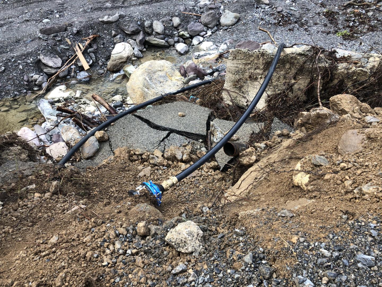 Les infrastructures ont été en grande partie détruites.