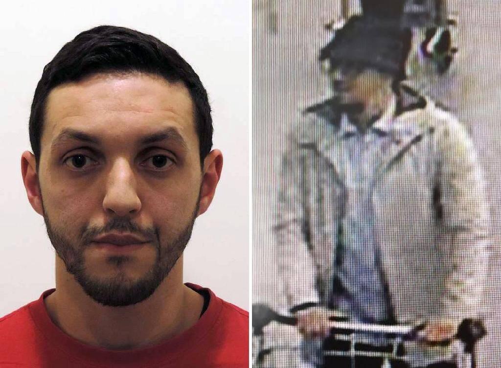 """""""L'homme au chapeau"""" Mohamed Abrini, sur des photos rendues publiques par la police belge en novembre 2015"""