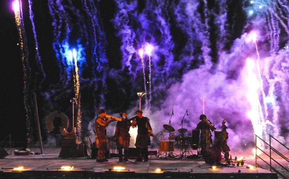 La Compagnie K s'empare du château, samedi 4 août, avec un concert pyrotechnique, « Souffles boréals ».(DR)