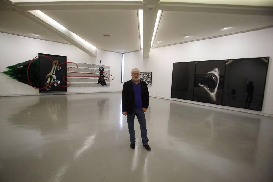 Gilbert Perlein, conservateur du Musée d'art moderne et d'art contemporain : « Les deux œuvres monumentales de Richard Longo n'ont pas coûté un centime à la Ville. »