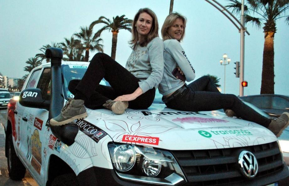 Comme trois cents autres Gazelles, Laura et Kate prendront le départ du rallye, aujourd'hui, à Nice.