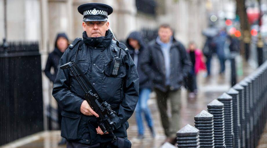 La police patrouille à Londres