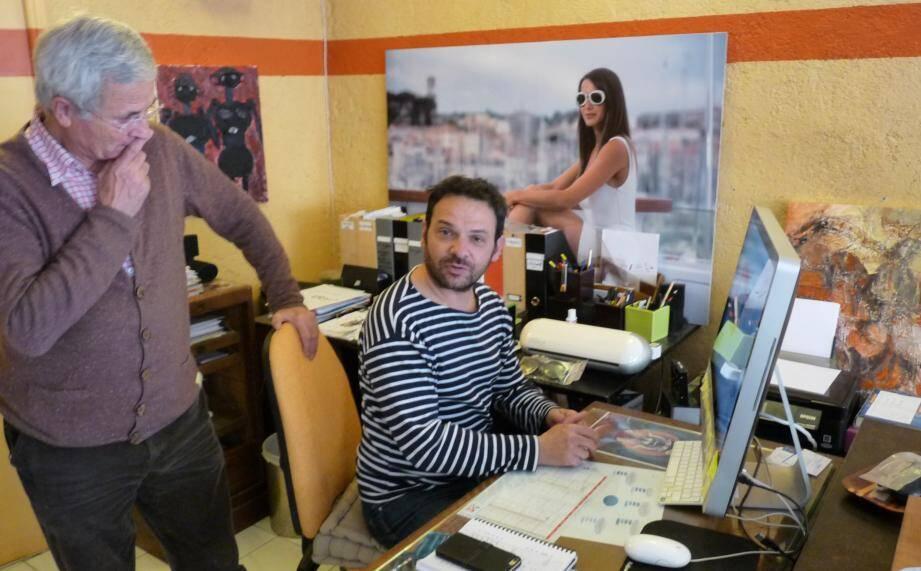 Joël Faguet accompagne Florent Grellet au sein de la coopérative dactivités et d emploi Acticop.