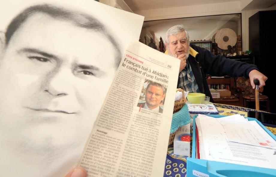 Jacques Frantz di Rippel, le papa de Stéphane directeur d'un Novotel, assassiné en 2011 à abidjan par des milices pro Gbagdo, veut comprendre