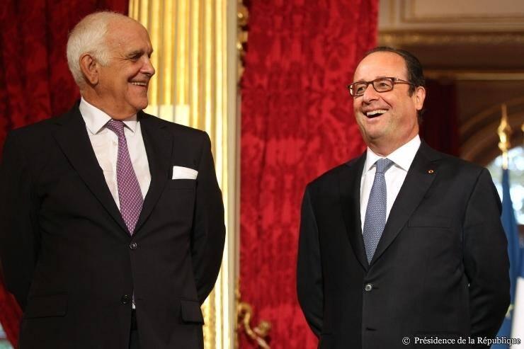 Le 15 septembre dernier, Philippe Maubert a reçu le trophée de l'audace créatrice à l'Élysée, des mains de François Hollande.