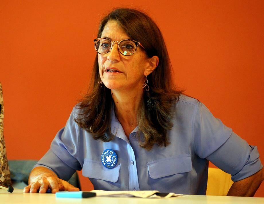 Françoise Sivignon, présidente nationale de « Médecins du monde » ; Maurizio Marmo, directeur de « Caritas Vintimille-San Remo » ; Jean-Noël Fessy, porte-parole des associations « Roya citoyenne » et « ARBRES ».