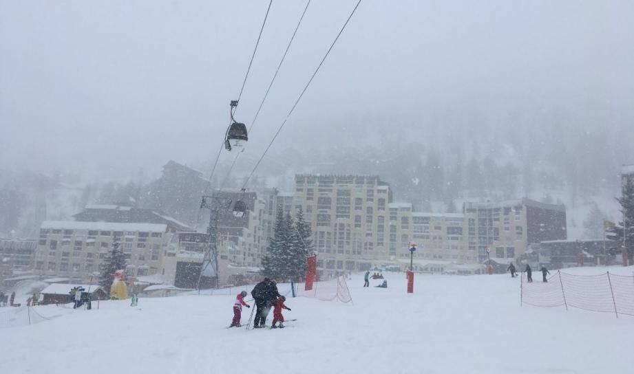 La neige à Isola 2000