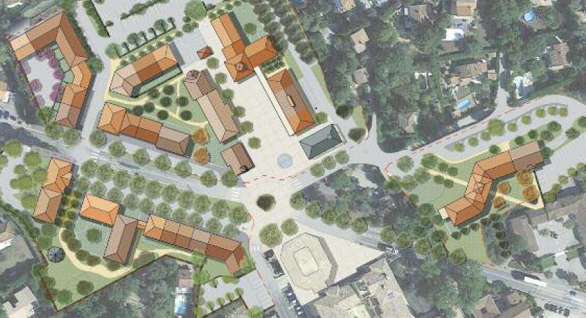 Trois projets d'aménagement et d'extension du centre-village seront soumis au choix des habitants aujourd'hui de 10h à 12h et de 14h à 18h.
