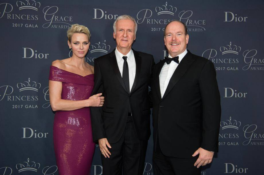 Le couple princier et le célèbre réalisateur américain.