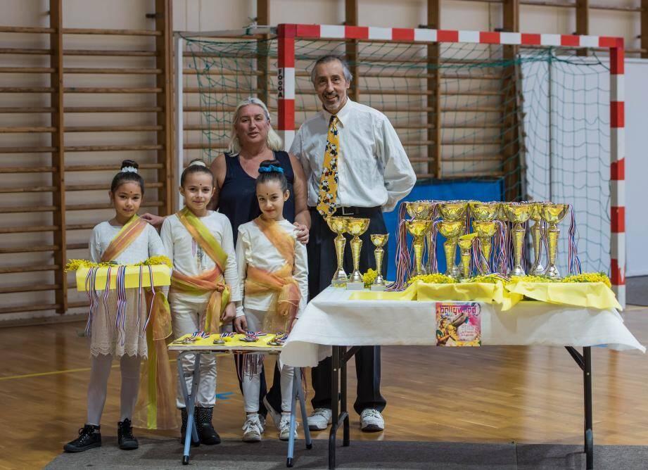 Sabine Soldati, entraîneur général du club de La Garde, et Patrick Grandi, le président de la section gymnastique.