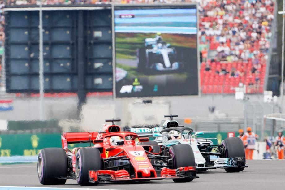 Qu'on ne s'y trompe pas, Sebastian Vettel partira derrière les Mercedes cet après-midi.