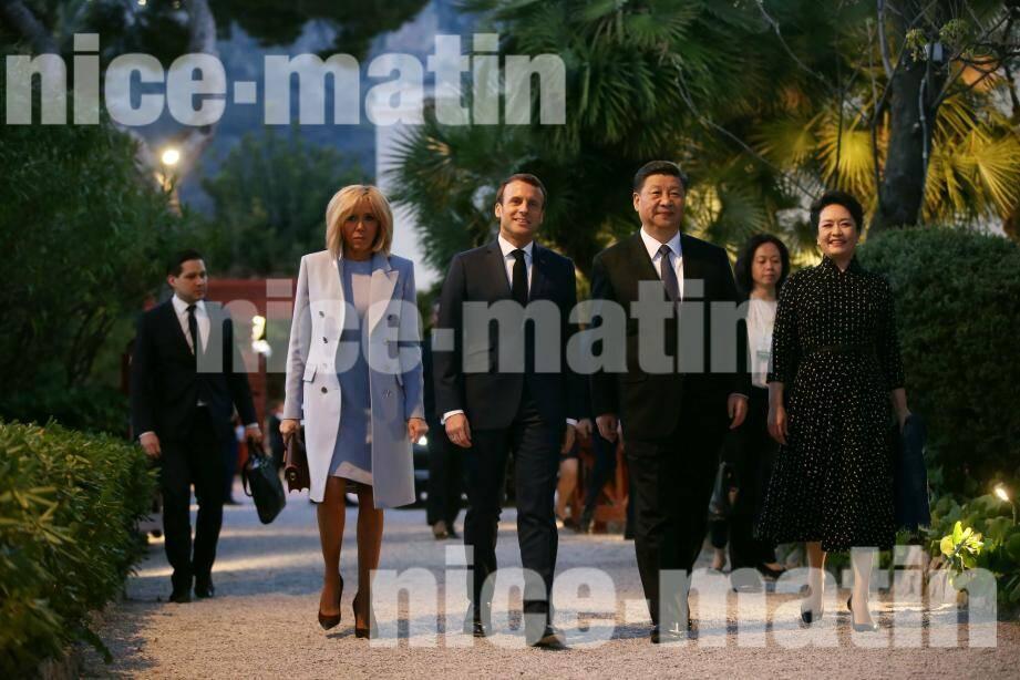 Les deux couples présidentiels se sot retrouvés à Beaulieu-sur-Mer.