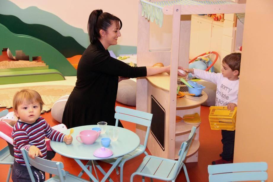 La ludothèque compte déjà ses premiers habitués. Elle accueille régulièrement le Réseau Intercommunal d'Assistants Maternels (RIAM) géré par le CCAS de Beausoleil.