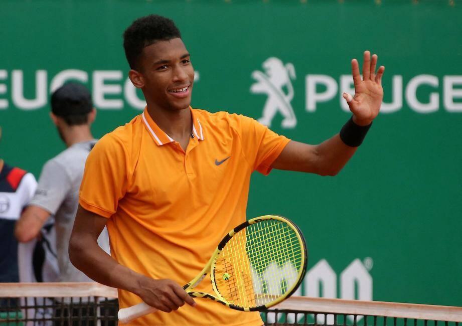 Première victoire à Monaco pour le jeune Canadien Félix Auger-Aliassime.