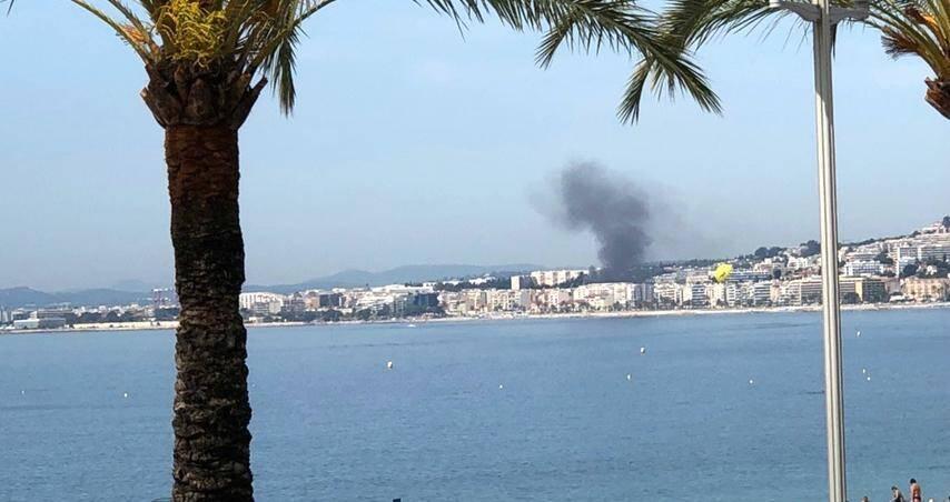 La fumée était visible de l'autre bout de Nice.