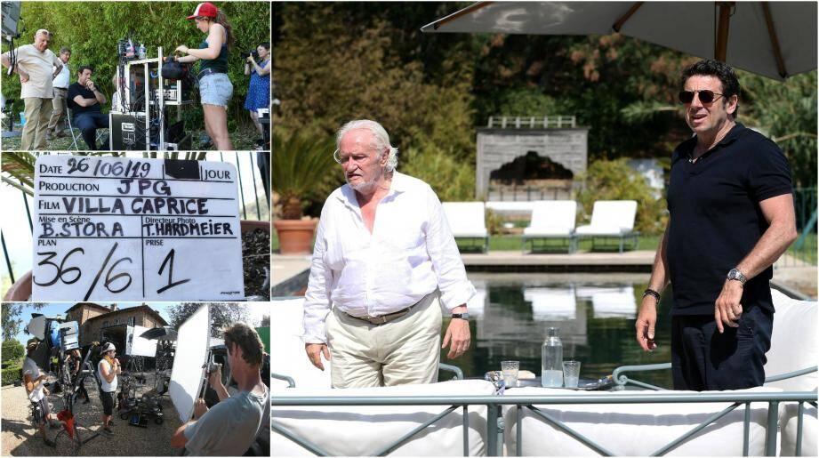 Le tournage du film Villa Caprice se déroule au Château Volterre à Ramatuelle