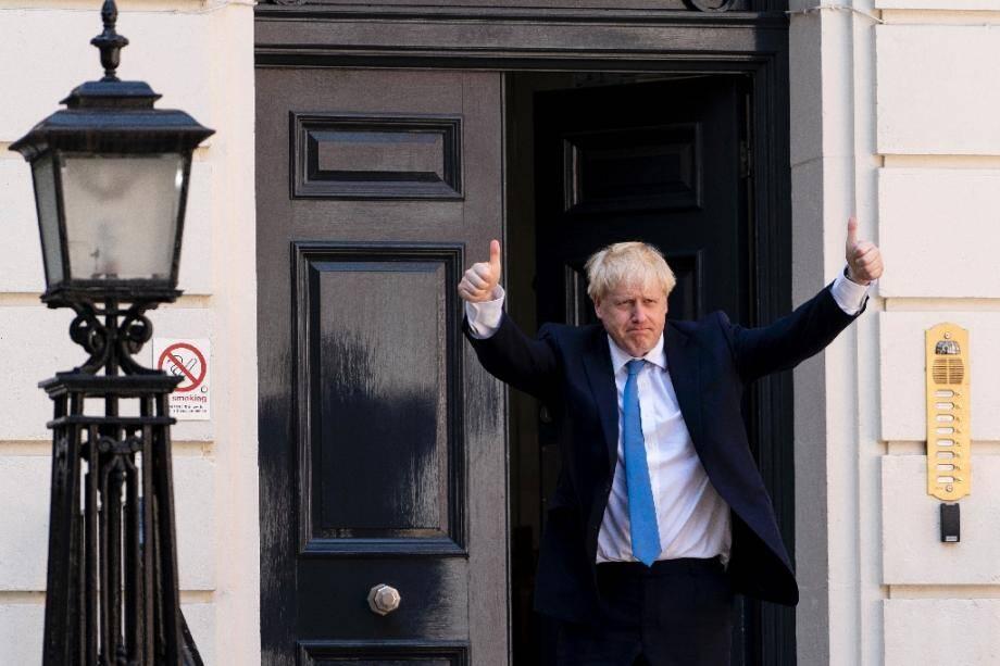 Boris Johson au siège du parti conservateur, le 23 juillet 2019 à Londres