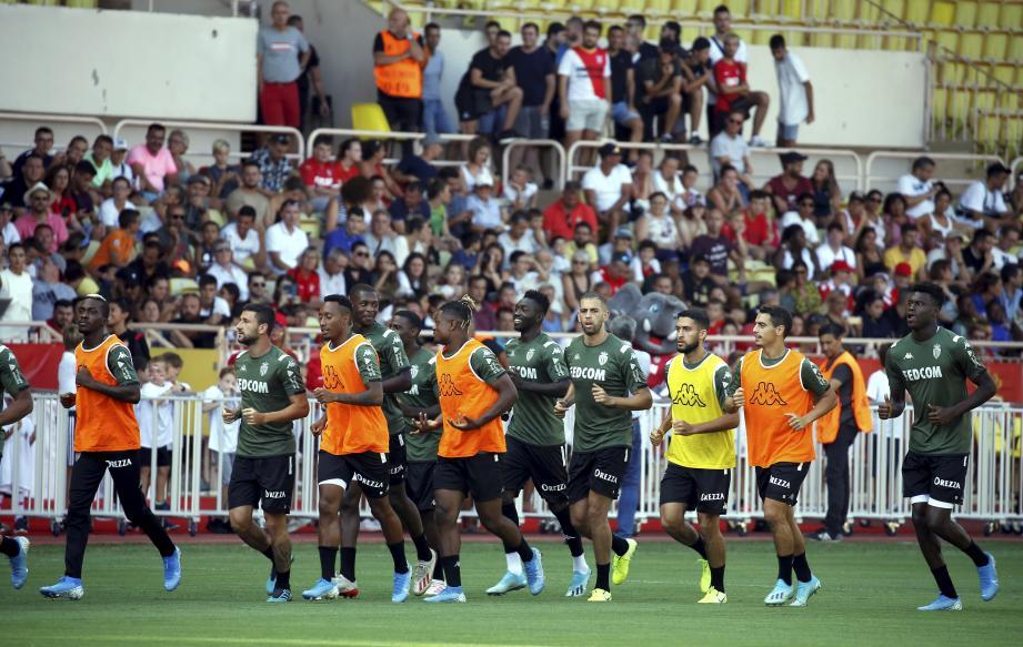 Les supporters étaient nombreux au Stade Louis-II hier.