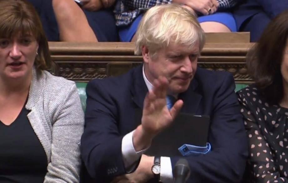 Le Premier ministre britannique Boris Johnson à la Chambre des communes, le 9 septembre 2019