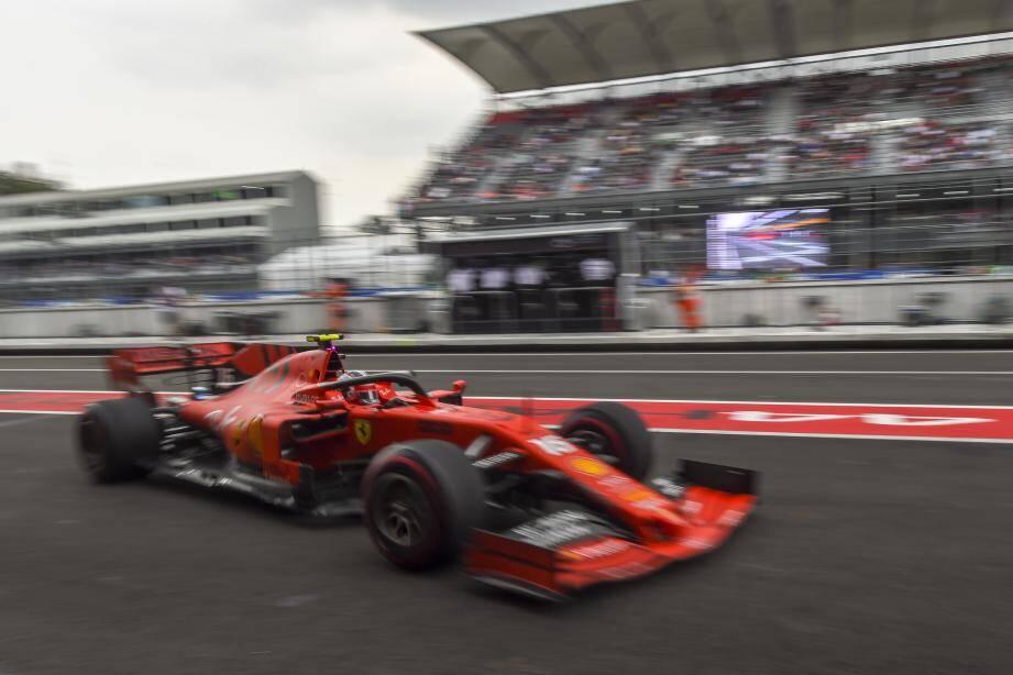 Le Monegasque Charles Leclerc termine 3e des essais libres du GP de Formule 1 du Mexique.