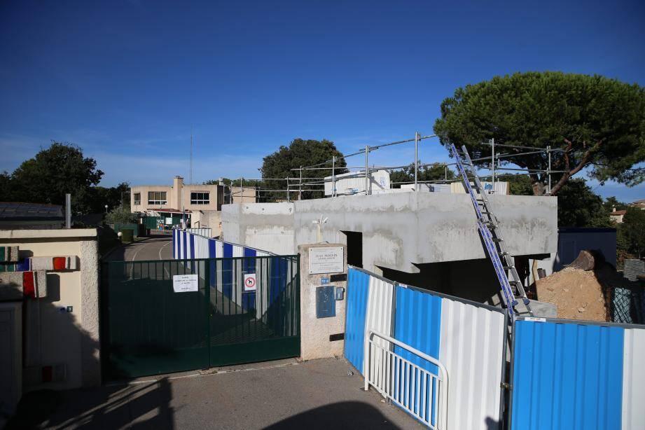 L'école Jean-Moulin reste ouverte pendant les travaux d'extension du groupe scolaire.
